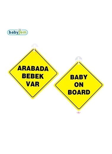 Baby Jem Babyjem Art-094 Vakumlu Araba Cam Yazısı Pembe